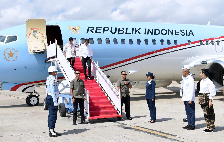 Presiden Jokowi dan Ibu Negara Bertolak Menuju Provinsi NTT