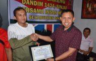 Ketua IWO Sinjai, Muh Syahidin Mendapat Penghargaan Dari Dandim 1424 Sinjai