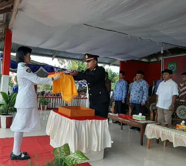 Kapolsek Jalsel Jadi Irup Pada Penurunan Bendera HUT RI Ke -74