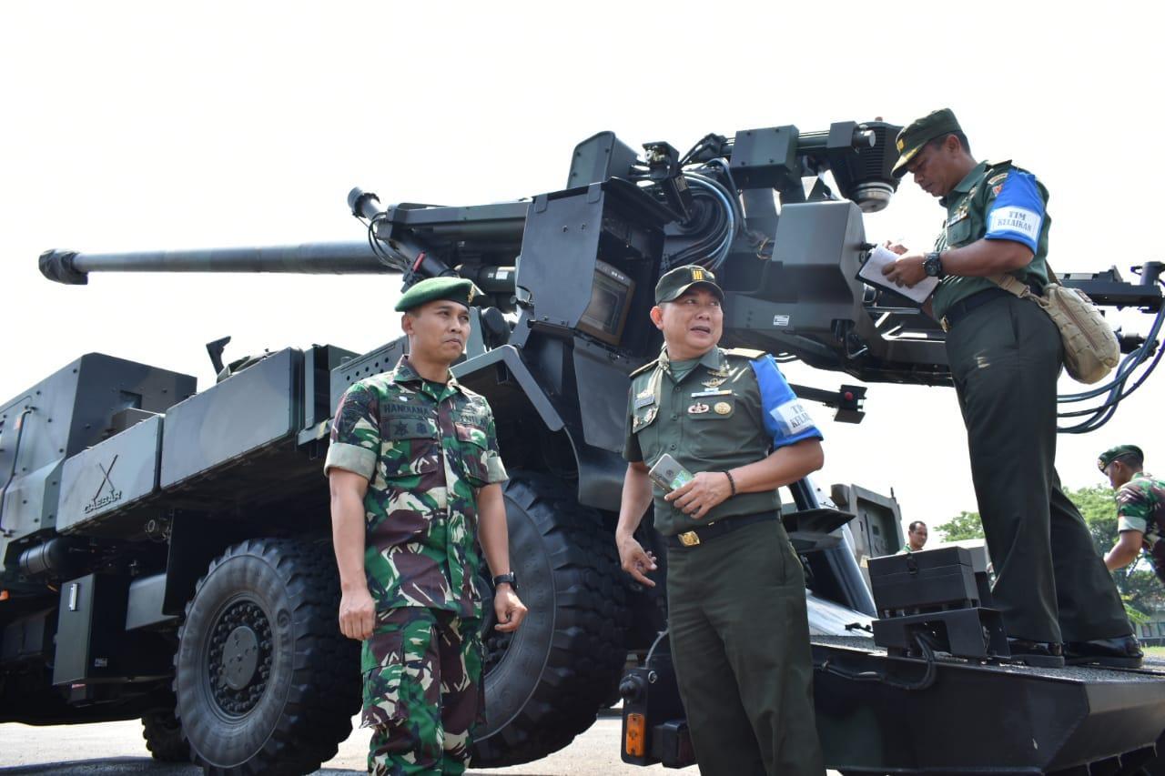 Diperiksa Tim Dislaikad, Caesar Armed 12 Kostrad Siap Dukung Latgab TNI 2019