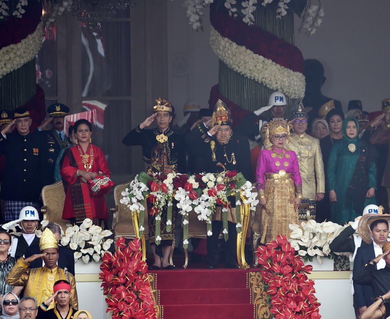 Panglima TNI Hadiri Upacara Peringatan HUT Ke-74 RI di Istana Merdeka