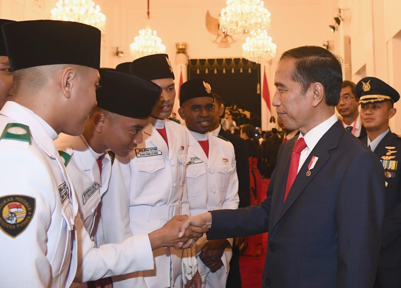 Pesan Presiden kepada Paskibraka dan Gita Bahana Nusantara