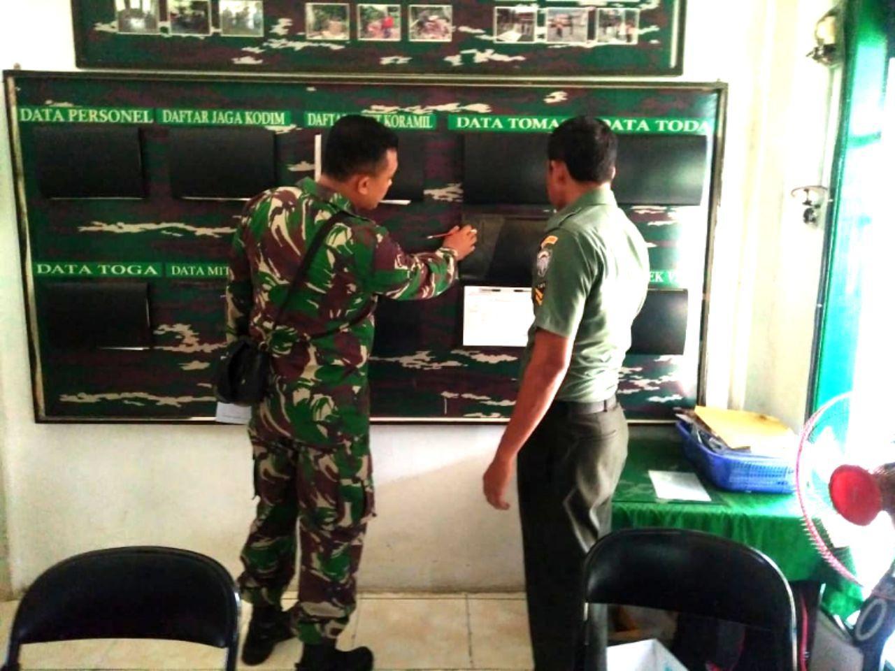 Tim Wasev Kodim 0101/BS Tinjau Pelaksanaan Binter di Jajaran Koramil