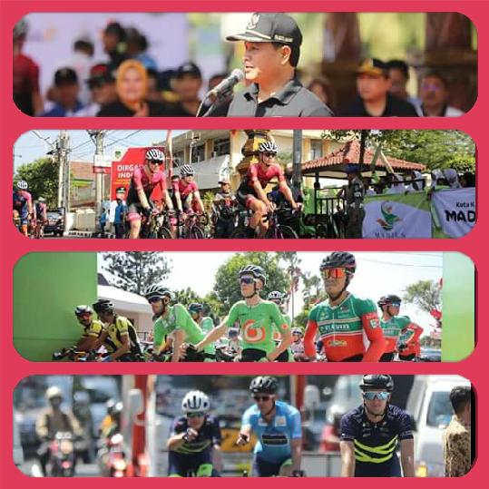 Walikota Madiun BerangkatkanTour d'Indonesia Etape 2