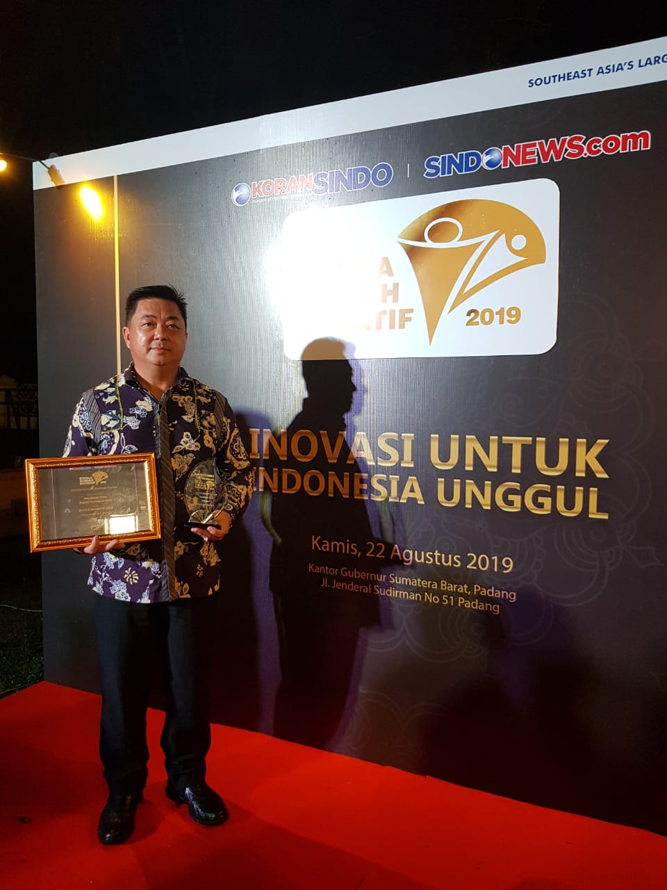 "Hendrata Thes, Sabet Awards ""The Asian Pos ke Tiga 2019"""
