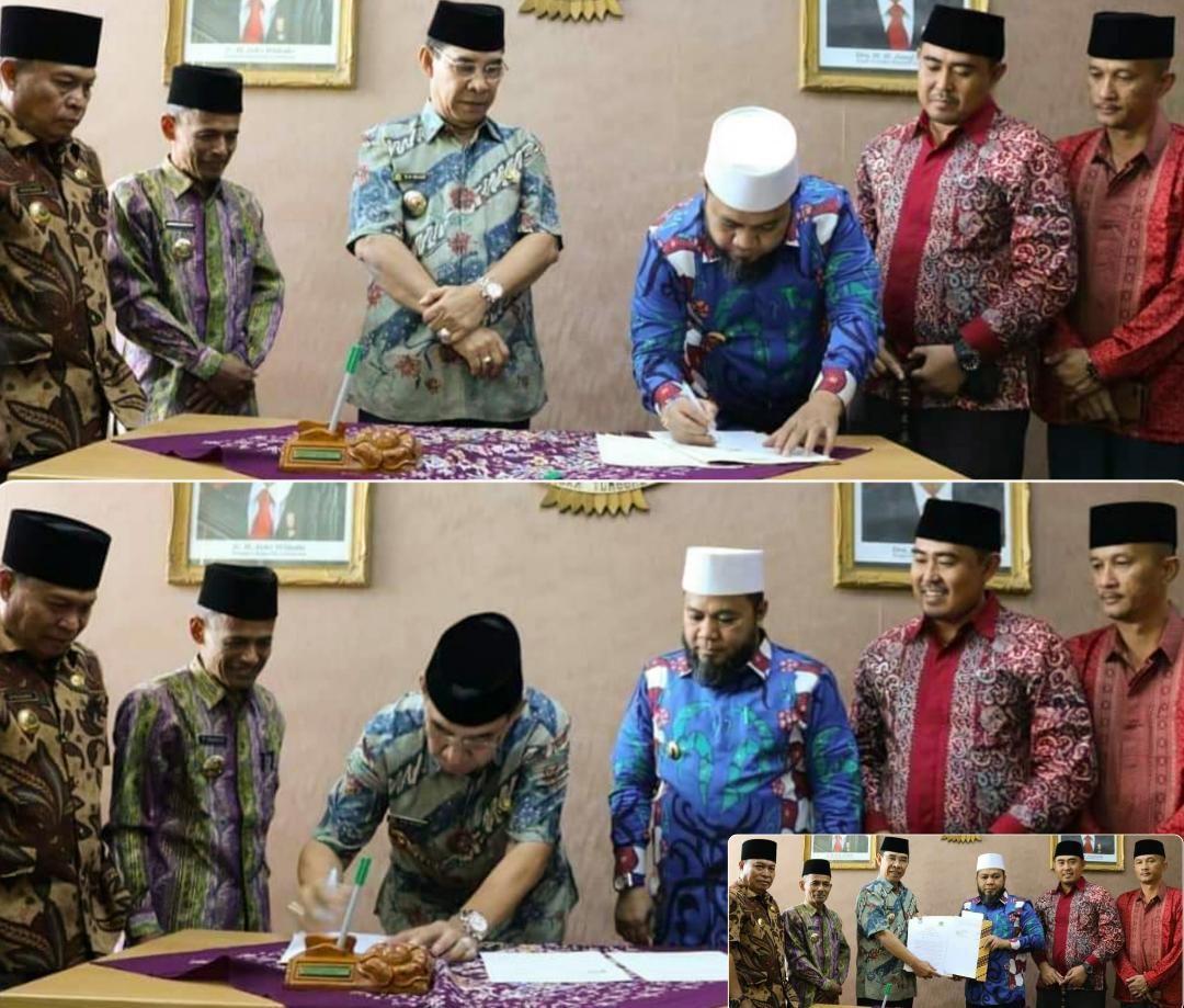 Kota Bengkulu dan Rejang Lebong MoU Wujudkan Pemerintahan yang Bahagia dan Religius