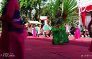 Dispertan Tampilkan Tarian Goyang Karang Kitri Dalam Pawai Budaya Semipro Ke 11