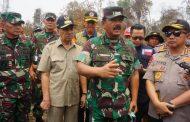 Panglima TNI :  Pantau Titik Api Karhutla Riau, TNI Gunakan Drone di Malam Hari