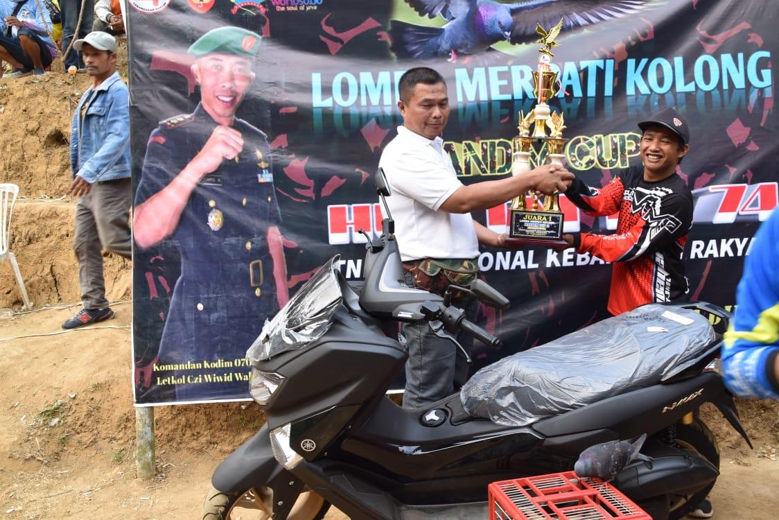 Peringati HUT TNI Kodim Wonosobo Gelar Merpati Kolong Dandim Cup Ke -2