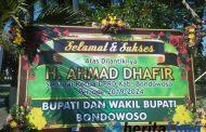 Ratusan Karangan Bunga, Ucapan Selamat Dilantiknya Ahmad Dhafir Jadi Ketua DPRD Bondowoso
