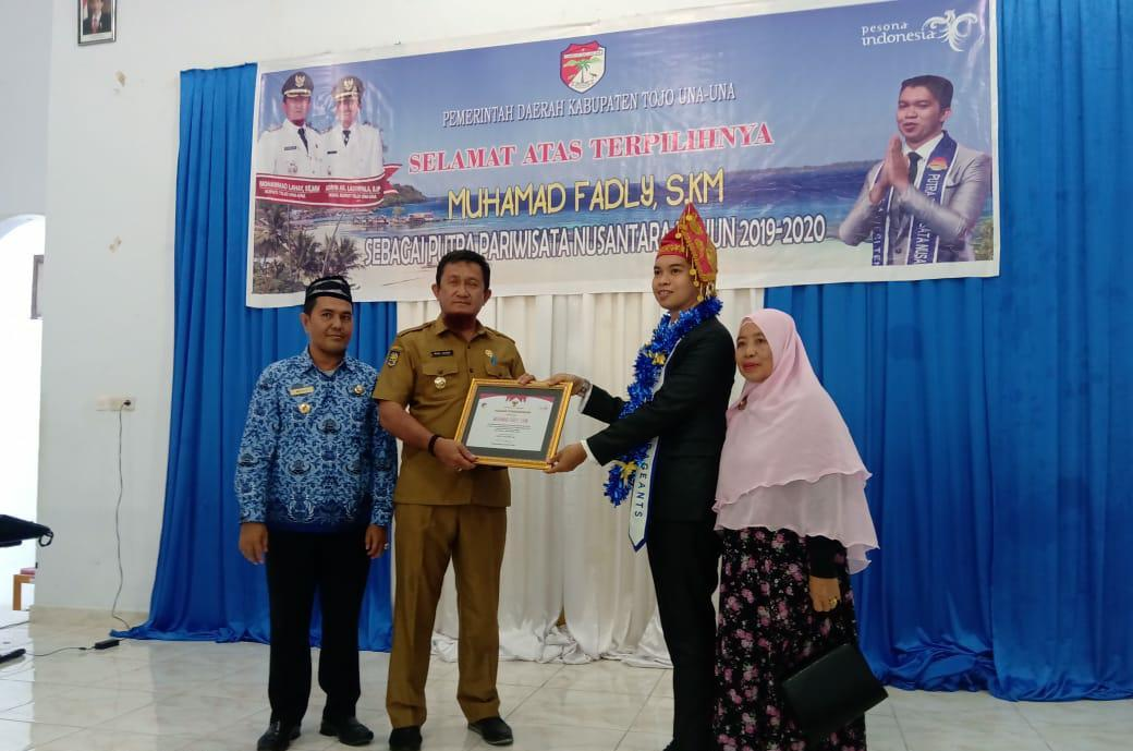 Bupati Touna Apresiasi Jawara Putra Pariwisata Nusantara  2019