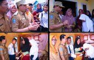 Wawali Dedy Wahyudi Dampingi Duta GPS Salurkan Bantuan Untuk Pelajar Kota Bengkulu