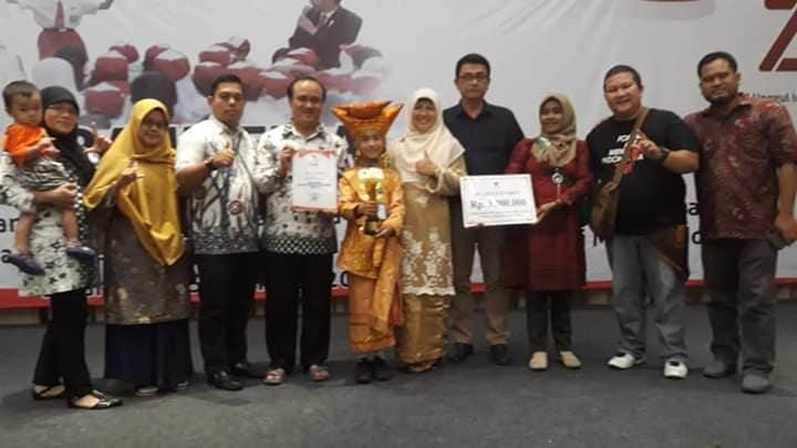 Mariza Ilfani Siswi Ranah Batahan Raih Pemenang Favorit di Lomba Bercerita Perpusnas RI 2019