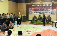 Mantapkan Pengamanan Pilkades Serentak 2019, Polres Pamekasan Gelar TFG