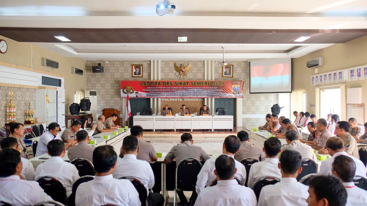 Ops Sikat Semeru 2019, Polresta Sidoarjo Wujudkan Sidoarjo Kondusif