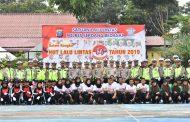 Meriahkan Hut Lalulintas ke 64 Polres Sergai Gelar Lomba Baris Berbaris di Tingkat Pelajar
