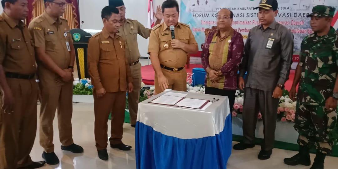 Bupati Kepulauan Sula Buka Rakor, Sistem Inovasi Daerah