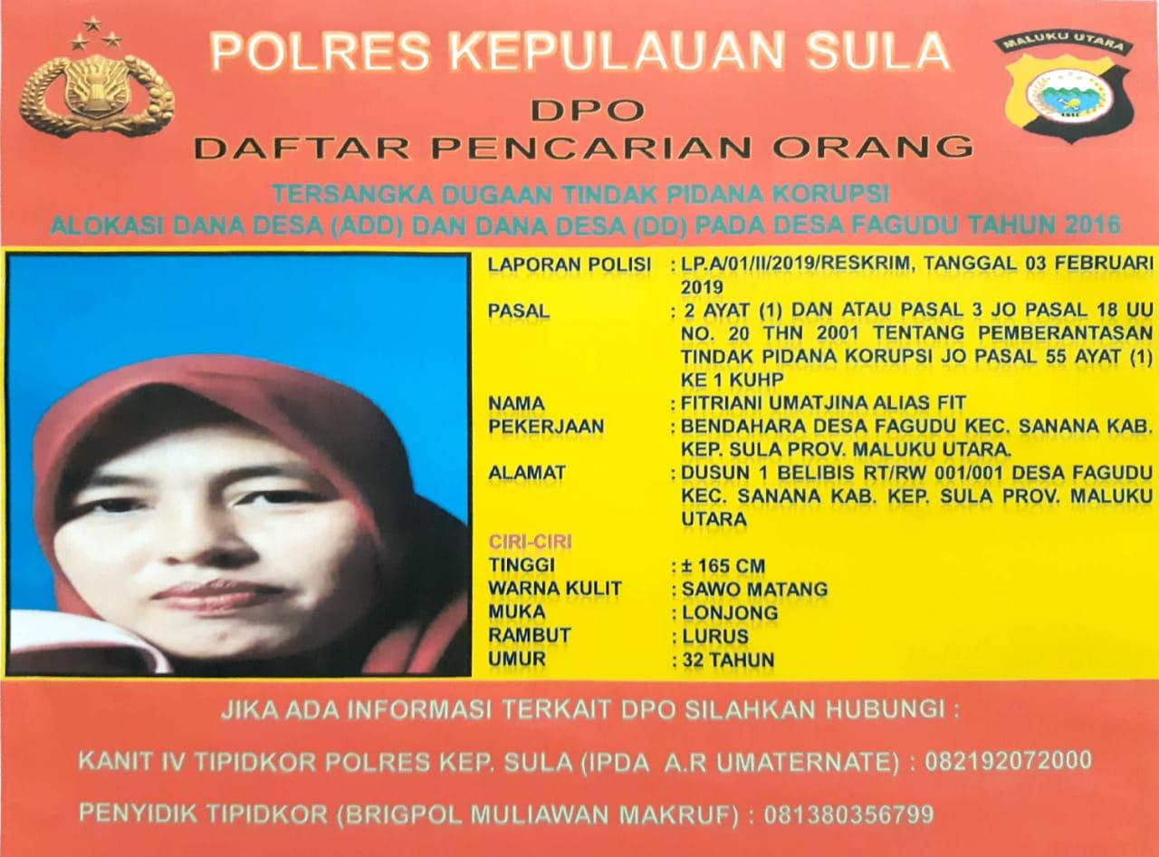 Buron 1 Tahun, Buser Polres Sula Bekuk DPO Kasus Dugaan Kuropsi