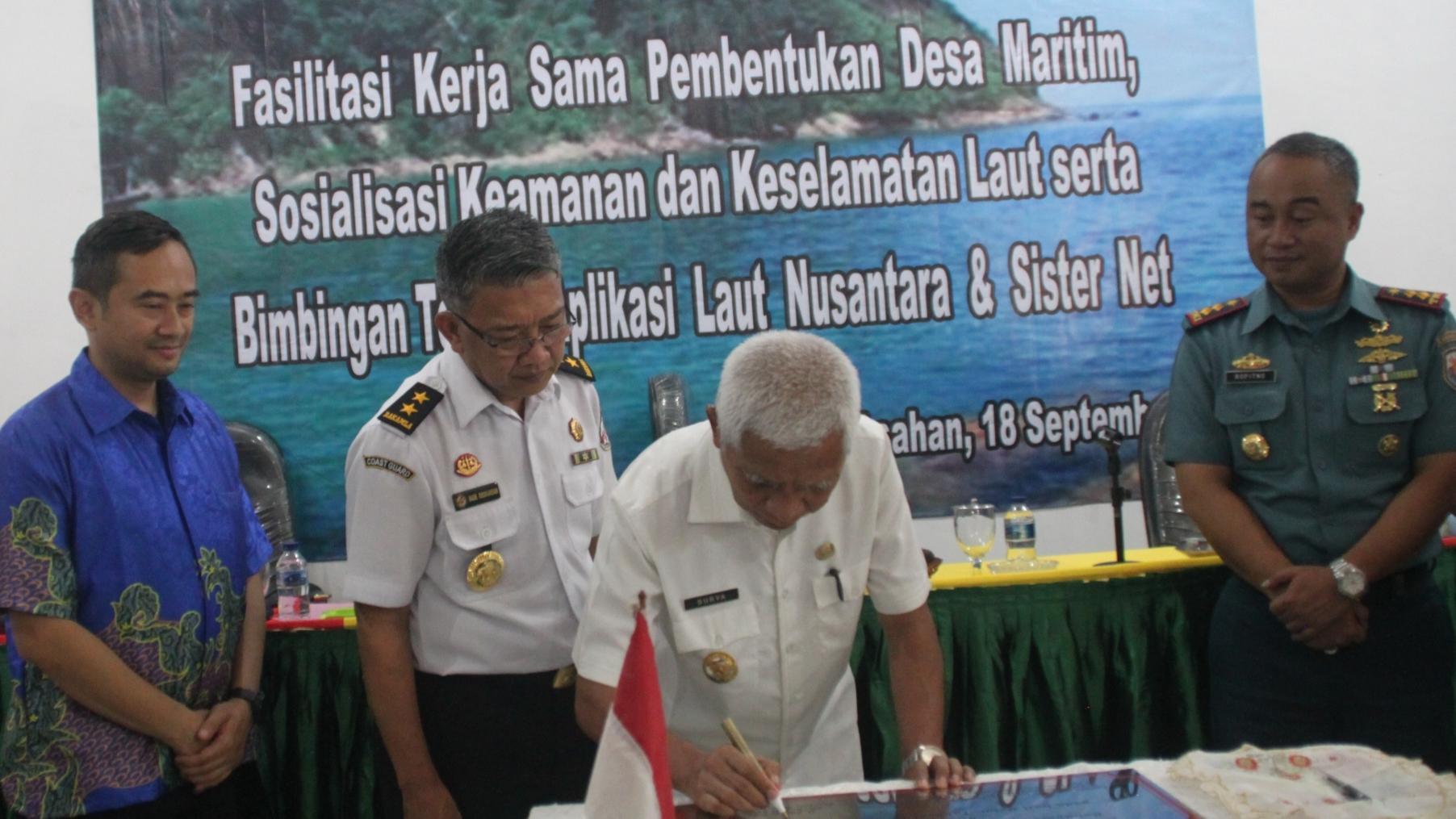"XL Axiata – Bakamla Bangun ""Desa Maritim"" di Asahan"