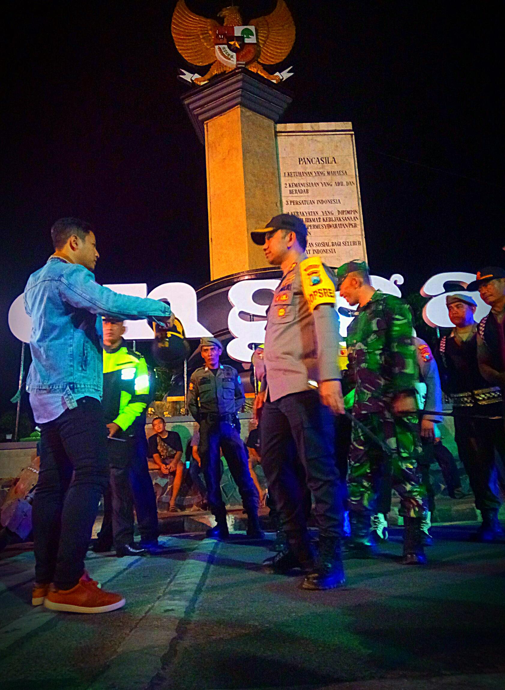 Jelang Pelantikan Presiden, Polres Trenggalek Gelar Patroli Gabungan Sekala Besar