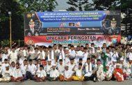 Polresta Sidoarjo, Adakan Upacara HSN 2019 Bersama TNI dan Santri
