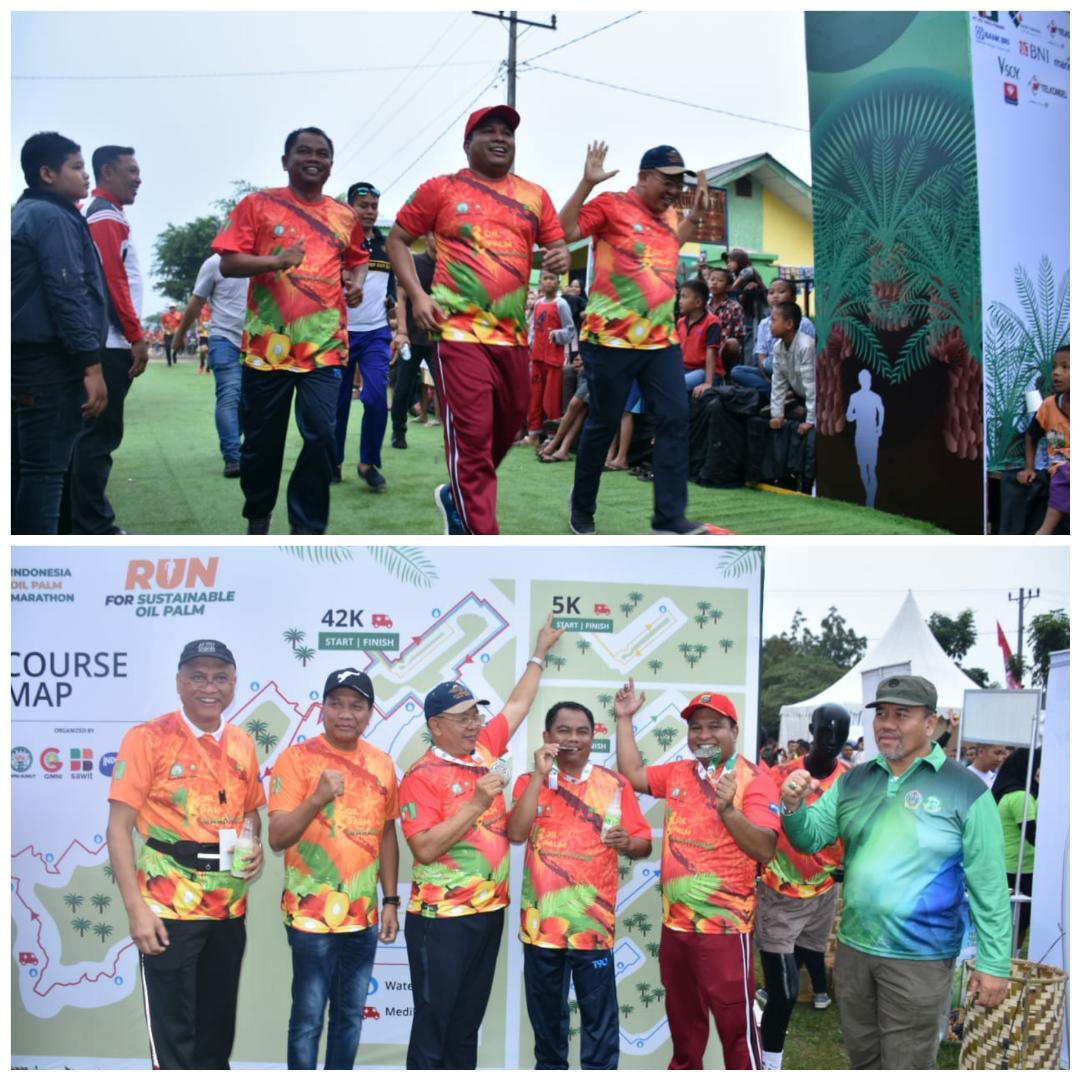 Ribuan Warga Sergai Antusias Ikut Oil Palm Marathon 2019 di Dolok Masihul