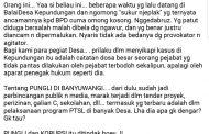Ketua Asosiasi BPD Banyuwangi Keluarkan Cuitan di FB Yang Menggelitik