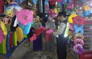 Demi Keamanan, Anggota Polisi Patroli Di Tempat Wisata Api Tak Kunjung Padam Pamekasan