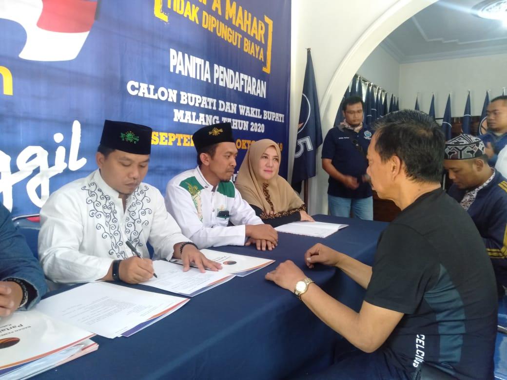 Geng Wahyudi Ramaikan Bursa Bacabup Malang Lewat Nasdem