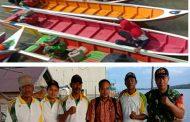 Peringati Hari Jadi TNI ke-74, Kampung Kasai Adakan Lomba Perahu Ketinting