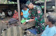 Satgas Yonif MR 411/Pdw Kostrad Laksanakan Pengobatan Keliling di Perbatasan RI-PNG