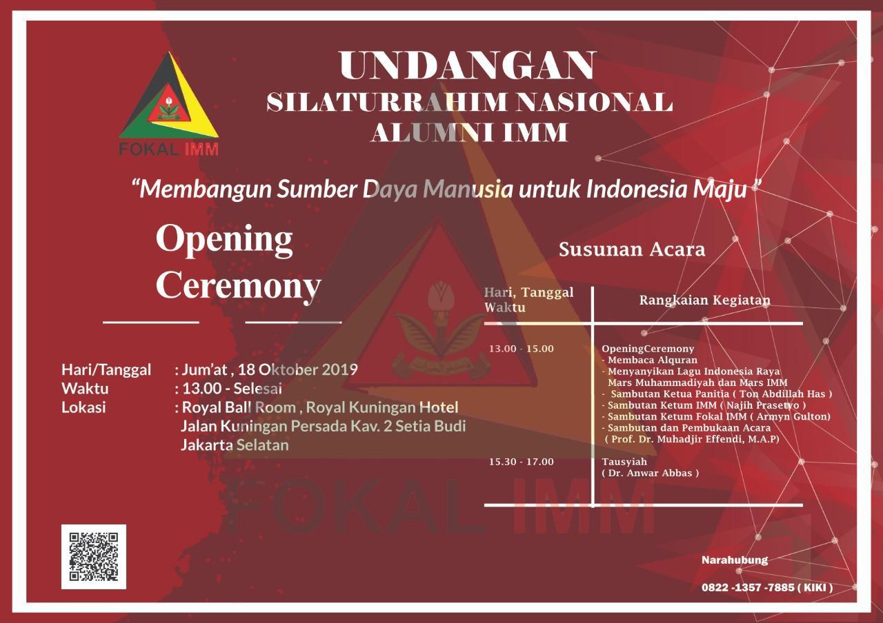 """Forum Keluarga Alumni IMM Gelar Silatnas """"Membangun Sumber Daya Manusia untuk Indonesia Maju"""""""