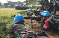 Personel Satgas Yonmek TNI Konga XXIII-N Unifil Gelar Latihan Menembak Senjata Kelompok