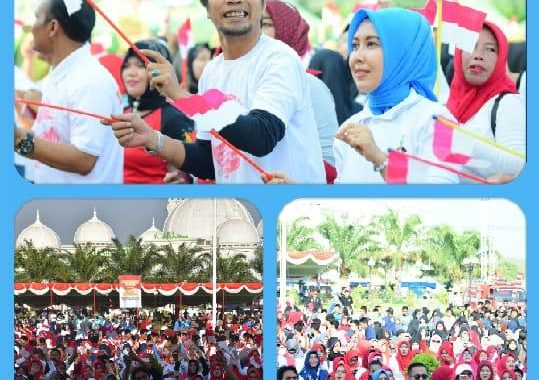 Panggung Merah Putih Dari Kabupaten Madiun Jelang Pelantikan Presiden