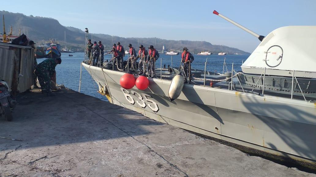 Tiga KRI Sandar, Pangkalan TNI AL Banyuwangi Berikan Pelayanan