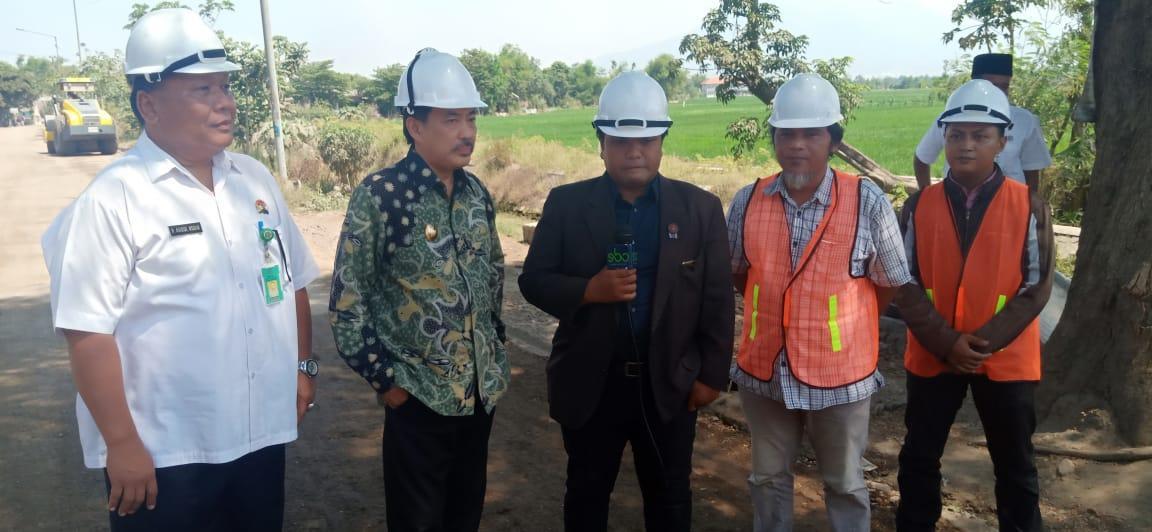 Wabup Sidak Proyek Peningkatan Jalan di Prambon Senilai 4,1 Milyar