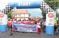 Polda Malut Gowes Bareng TNI dan Komunitas Gowes Kota Ternate