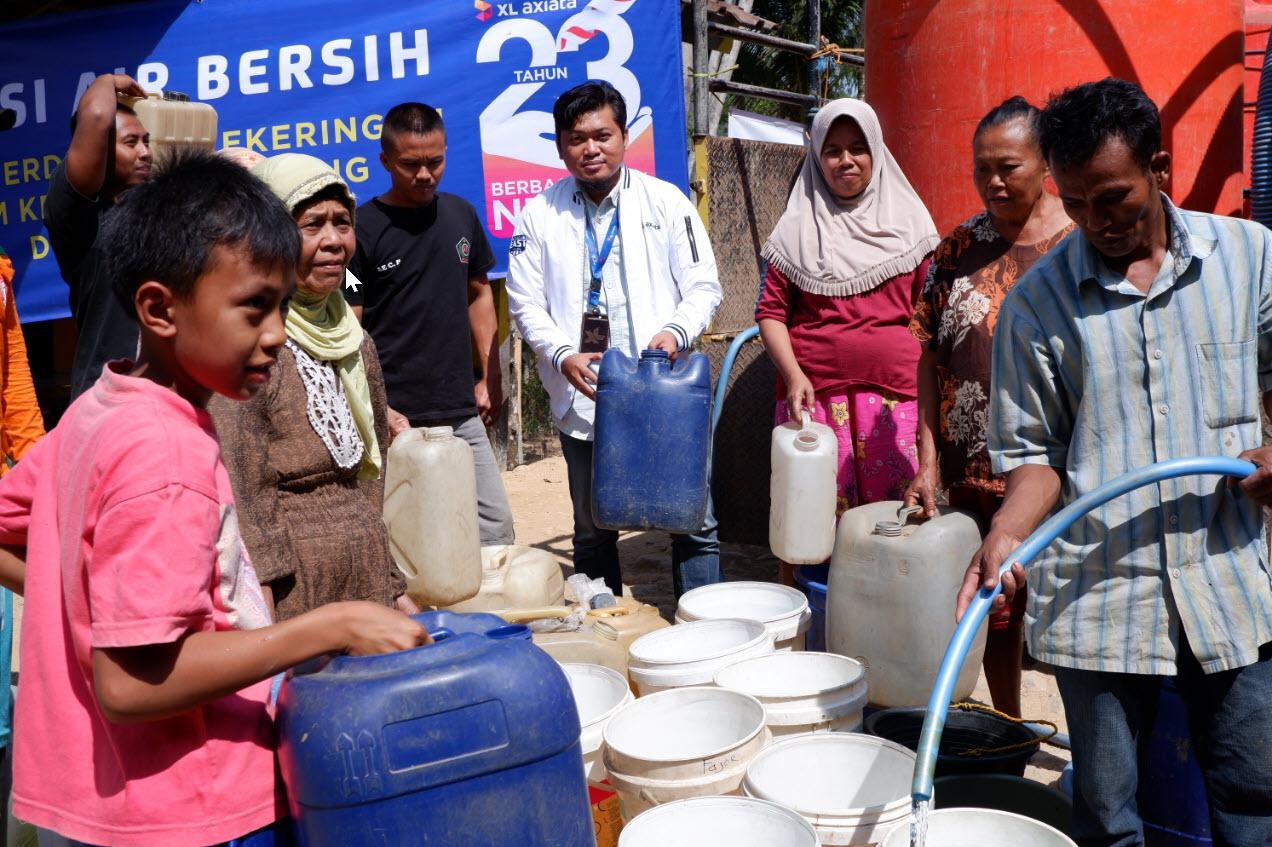 XL Axiata Bantu Air Bersih Daerah Kekeringan