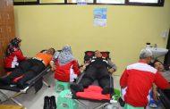 Peringati HUT Brimob Ke-74, Polres Wonosobo Adakan Donor Darah