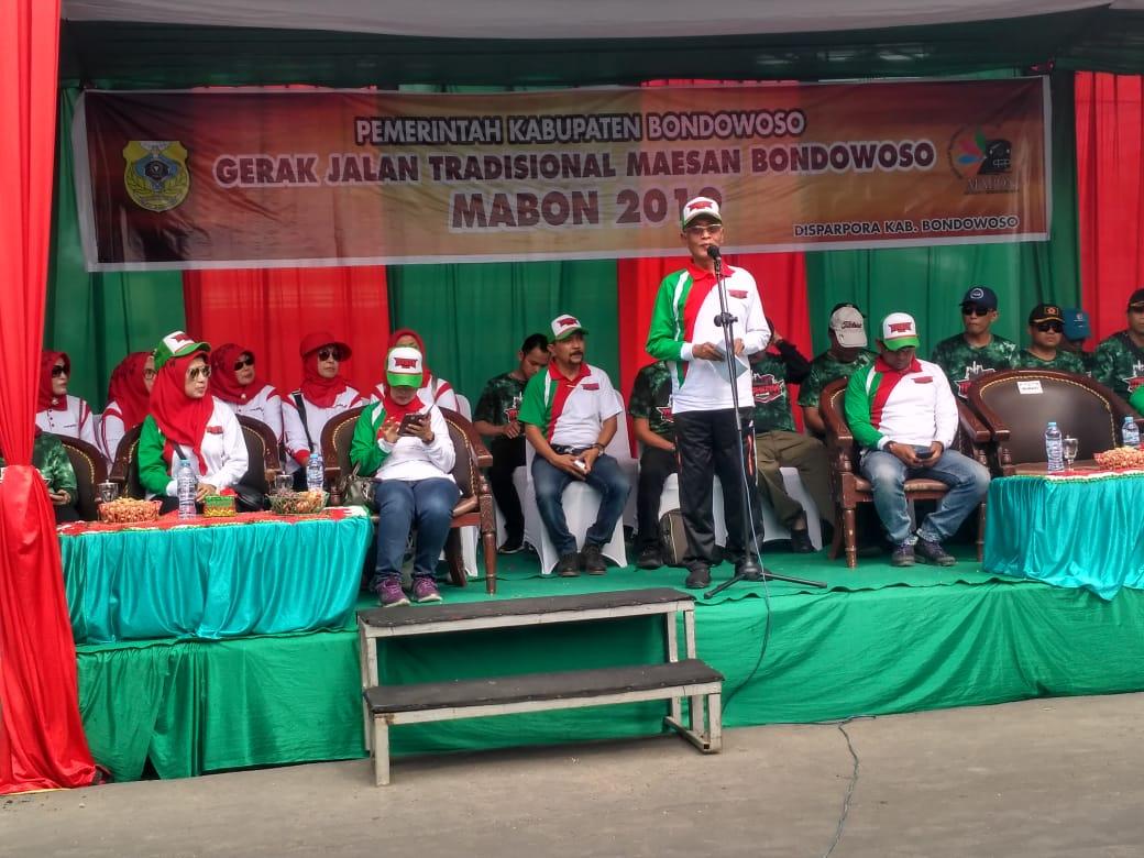 Peringati Pahlawan Gerbong Maut, Pemkab Bondowoso Gelar Gerak Jalan Mabon
