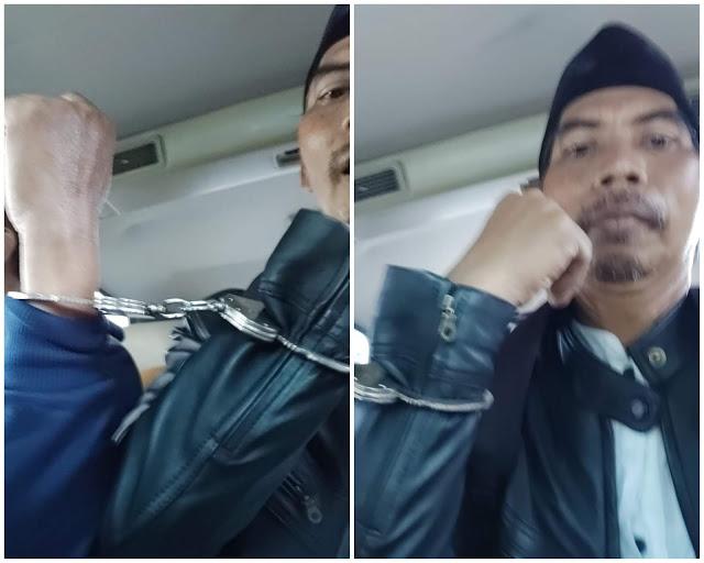 Tragis, Pemimpin Redaksi Koran  Duta Masyarakat Diborgol Polisi