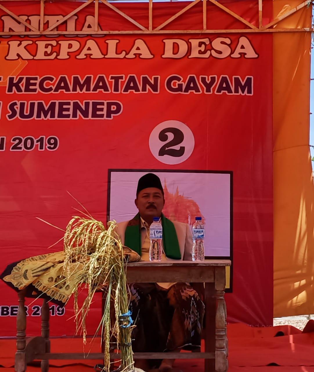 H. Suriyanto  Kembali Pimpin  Desa Gendang Barat Gayam Sapudi