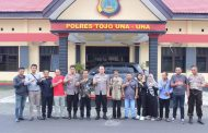 Jalin Silaturahmi , Kapolres Touna Tatap Muka Bersama Wartawan