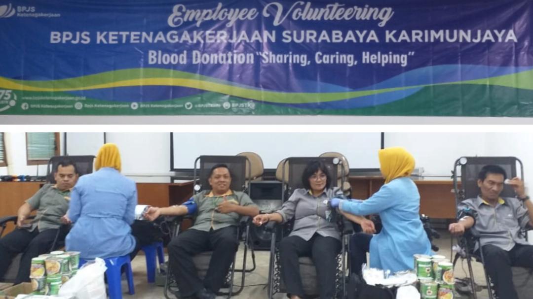 Karyawan BPJAMSOSTEK Surabaya Karimunjawa Ramai-Ramai Sumbang Darah