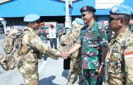 Komandan PMPP TNI Melepas Keberangkatan Satgas TNI  Konga XXXIX-B/RDB MONUSCO
