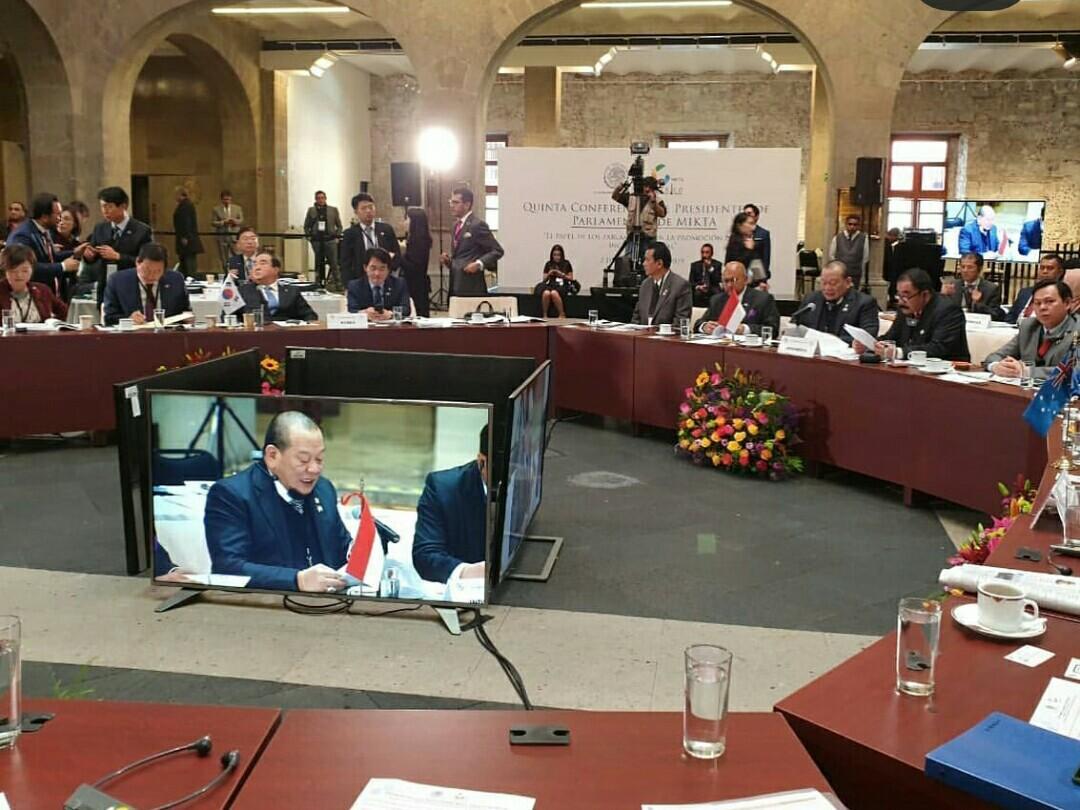 La Nyala Pimpin Sidang Pimpinan Parlemen MIKTA Di Meksiko