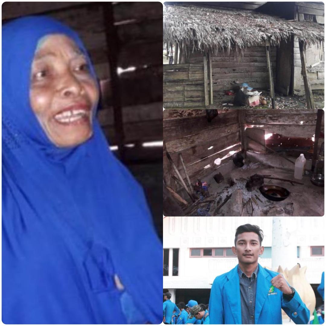 Mahasiswa Galang Dana Untuk Pembangunan Rumah Nenek Nur Halimah