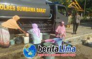 Polres KSB, Mendistribusikan Air Bersih Warga Berikan Apresiasi Kepada Kapolres KSB.
