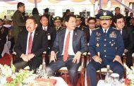 Berita Foto :  Panglima TNI Hadiri Upacara Panji-Panji Polri Tribrata