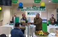 BPJAMSOSTEK Surabaya Rungkut Rayakan Ultah Ke-42 Bersama Peserta